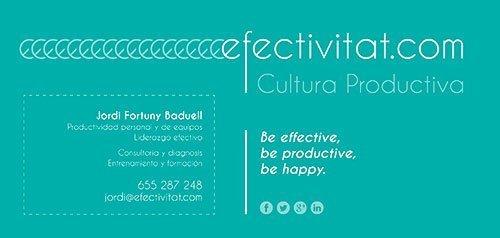 Tarjeta de visita Efectivitat.com